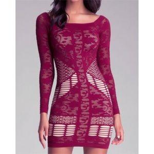 Bebe Mix Lace Dress